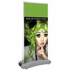 Outdoor roll-up double sided